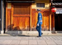 Kyoto security guard stock photos