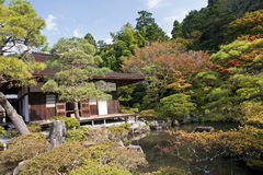 Kyoto silver pavilion Royalty Free Stock Image