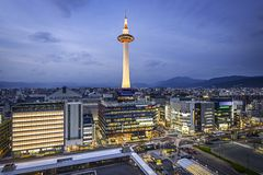 Kyoto Skyline Stock Photo