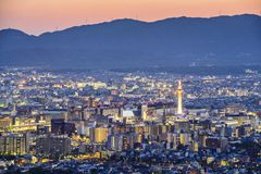 Kyoto Skyline Royalty Free Stock Image