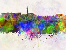 Kyoto skyline in watercolor Royalty Free Stock Images