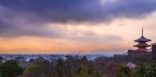 Kyoto solnedgång Fotografering för Bildbyråer