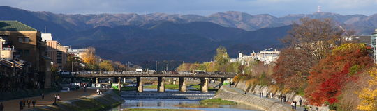 Kyoto stad Arkivfoton