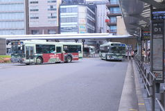 Kyoto station bus terminal Japan Stock Image