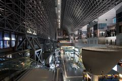 Kyoto Station South End. Kyoto Station, Southside view. Japan Royalty Free Stock Image