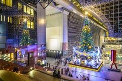Kyoto-Station während der Feiertage Lizenzfreies Stockfoto