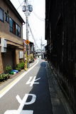 Kyoto street alley Royalty Free Stock Images
