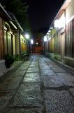 Kyoto streets at night Royalty Free Stock Images
