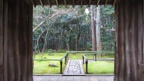 Kyoto tempelträdgård arkivbild