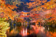 A Kyoto Temple in Autumn Royalty Free Stock Image