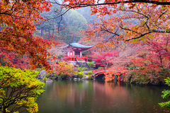 Kyoto Temple in Autumn Stock Photography