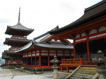 Kyoto temple buildings Royalty Free Stock Photo