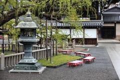 Kyoto temple garden. Kyoto, Japan - Nishi Honganji Temple garden. Buddhist temple Stock Image