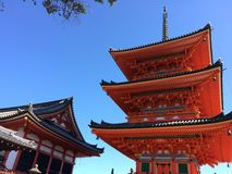 Kyoto temple Nishi Otani Royalty Free Stock Images