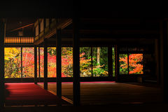 Kyoto, Tenju-an Temple at autumn Royalty Free Stock Images