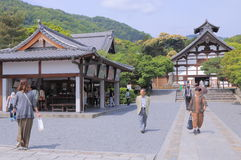 Kyoto Tenryuji temple Japan. People visit Tenryuji temple in Arashiyama Kyoto Royalty Free Stock Image