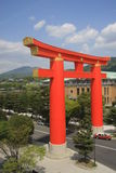 Kyoto Tori. Massive tori (protects against evil) in Kyoto Japan Stock Photography
