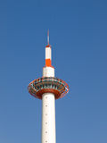 Kyoto tower. Daytime view of the top of Kyoto Tower, a 131 metre observation tower opposite Kyoto JR station in Kyoto city, Japan royalty free stock images