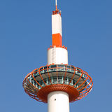 Kyoto tower. Daytime view of the top of Kyoto Tower, a 131 metre observation tower opposite Kyoto JR station in Kyoto city, Japan royalty free stock photo