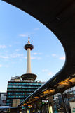 Kyoto tower with dark sky in Japan. Royalty Free Stock Photos