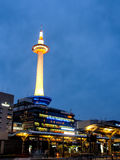 Kyoto tower with dusk sky, Kyoto, Japan 6 Royalty Free Stock Photos