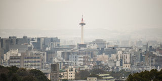 Kyoto tower in japan Stock Photo
