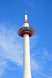 Kyoto tower, Japan. Kyoto tower, Landmark of Kyoto with clear blue sky, Japan royalty free stock photography