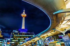 Kyoto Tower in Kyoto, Japan Stock Photos