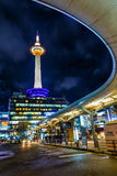 Kyoto Tower in Kyoto, Japan Stock Photo