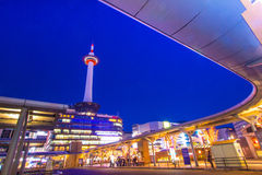 Kyoto Tower. Is the landmark of Kyoto in Japan Stock Photos