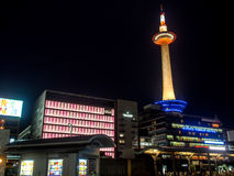 Kyoto tower at night, Kyoto, Japan 1 Stock Photography