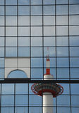 Kyoto Tower Reflected Royalty Free Stock Images