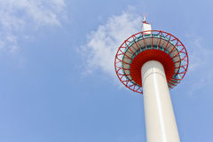 Kyoto Tower. Is the tallest structure in Kyoto at 131 meters tall. It is a rather unexpected sight in a city known for its ancient temples and shrines. It`s Stock Image