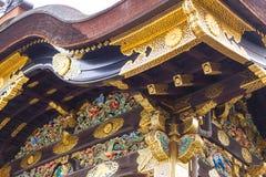 Kyoto Travel: Nijo Castle Nijojo. Japan style roof art design handcraft Royalty Free Stock Photos
