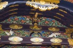 Kyoto Travel: Nijo Castle Nijojo. Japan style roof art design handcraft Stock Photography