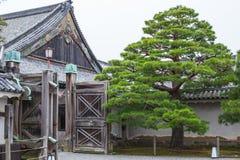 Kyoto Travel: Nijo Castle Nijojo. Japan style roof art design handcraft Stock Photo
