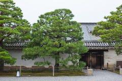 Kyoto Travel: Nijo Castle Nijojo. Japan style roof art design handcraft Royalty Free Stock Photo