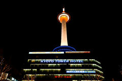Kyoto TV Tower Night. Kyoto TV Tower by late evening Royalty Free Stock Photo