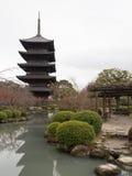 Kyoto, una pagoda de madera con cinco gradas Fotos de archivo libres de regalías