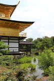 Kyoto view on the golden pavilion Royalty Free Stock Photography