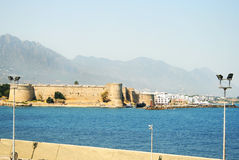 Kyrenia castle. In North Cyprus under the Turkish Occupation royalty free stock image