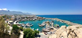 Free Kyrenia Castle And Harbour Turkish: Girne Kalesi At The East End Of The Old Harbour In Kyrenia Royalty Free Stock Photography - 155013757