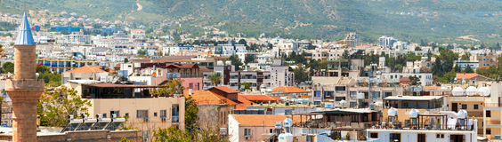 Kyrenia city. Panorama of old town. Cyprus.  stock photo