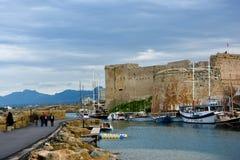 Kyrenia fort and marina Royalty Free Stock Photo