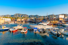 Kyrenia (Girne) harbor with castle on the background. Cyprus Stock Photography