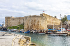 Kyrenia Girne old harbour, Northern Cyprus Royalty Free Stock Images