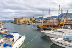 Kyrenia Girne old harbour, Northern Cyprus Stock Images