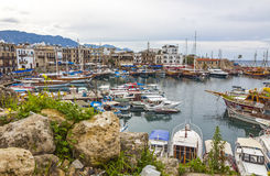 Kyrenia Girne old harbour, Northern Cyprus Stock Photos