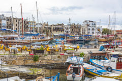 Kyrenia Girne old harbour, Northern Cyprus Royalty Free Stock Photography
