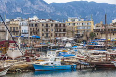 Kyrenia Girne old harbour, Northern Cyprus Stock Photo